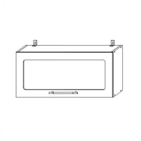 Гренада шкаф верхний горизонтальный со стеклом 800   ШВГС 800