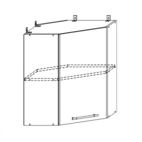 Гренада шкаф верхний угловой 600x600 | ШВУ 600*600