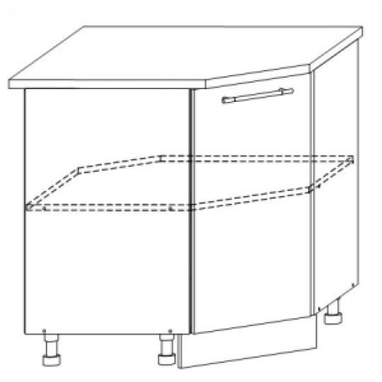 Гренада шкаф нижний угловой 850x850   ШНУ 850*850