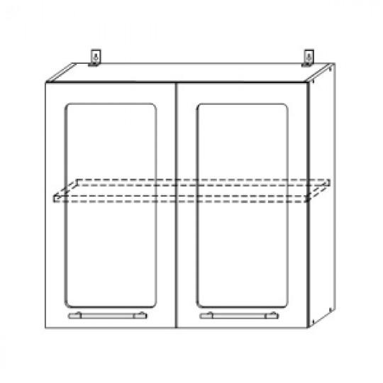 Гренада шкаф верхний со стеклом 800 | ШВС 800