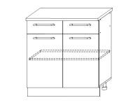 Гренада шкаф нижний с ящиками 800 | ШН2Я 800