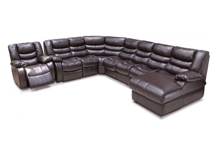 Платинум диван угловой с креслом набор