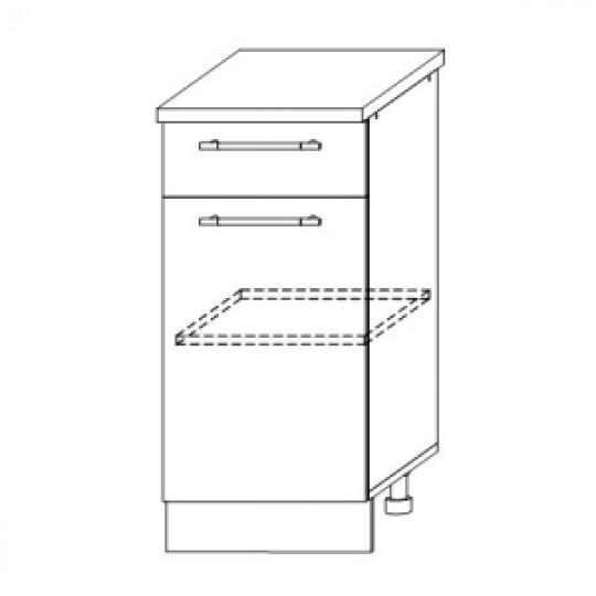 Гренада шкаф нижний с ящиком 400   ШН1Я 400