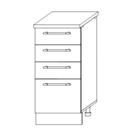 Гренада шкаф нижний с ящиками 400   ШНЯ 400