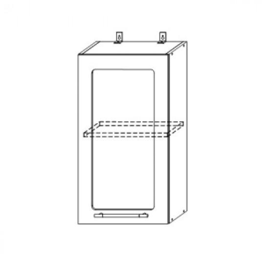 Гренада шкаф верхний со стеклом 400 | ШВС 400