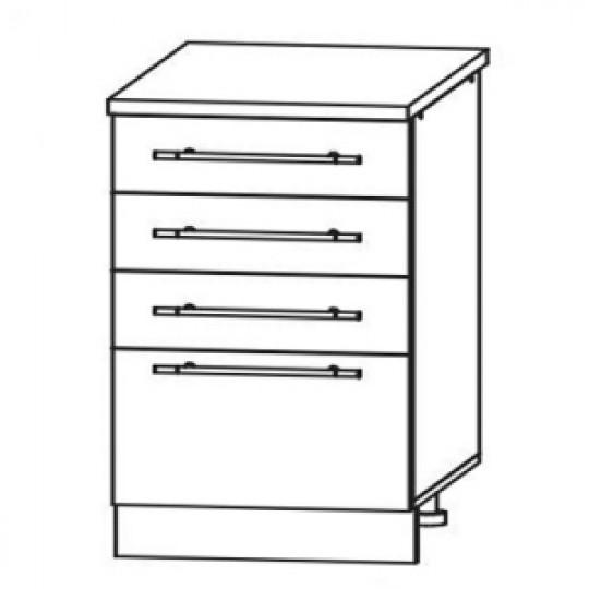 Гренада шкаф нижний с ящиками 500  ШНЯ 500