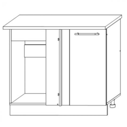 Гренада шкаф нижний угловой прямоугольный 1000   ШНУП 1000