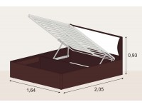 Кровать 1,6 арт.033 с подъемным механизмом | КЭТ