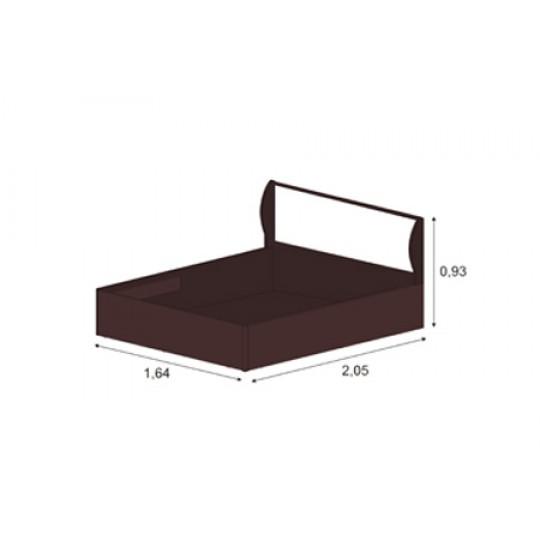 Кровать 1,6 арт.001 с щитовым основанием | КЭТ