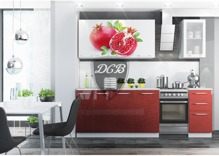 Кухонный гарнитур Фотопечать 1,6м МДФ