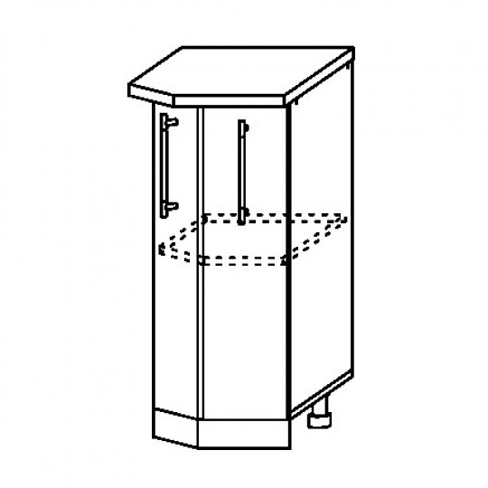 Гренада шкаф нижний торцевой 360   ШНТ 360