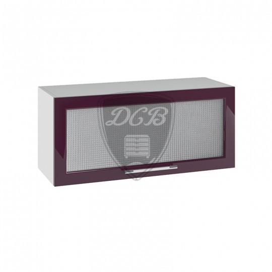 Капля шкаф навесной высокий горизонтальный со стеклом на 800 | ВПГС800