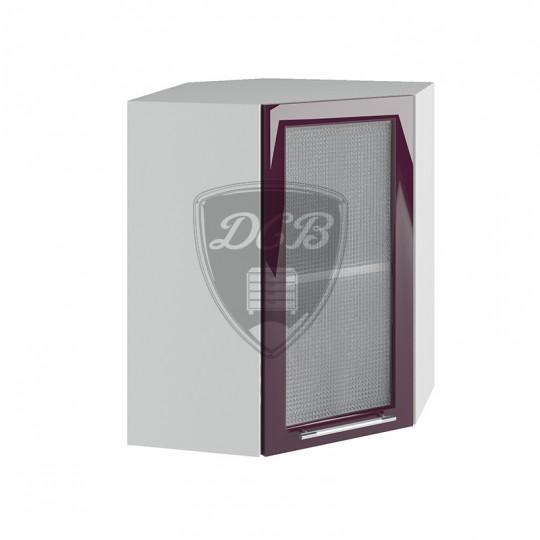 Капля шкаф навесной высокий угловой со стеклом 550х500 | ВПУС550