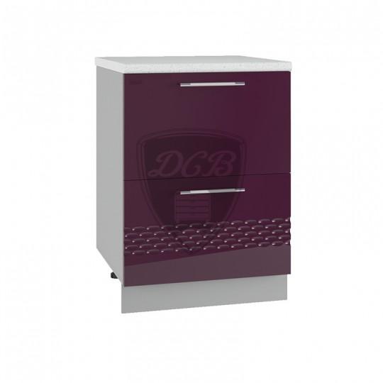 Капля шкаф нижний комод с 2 ящиками на 600   СК2600