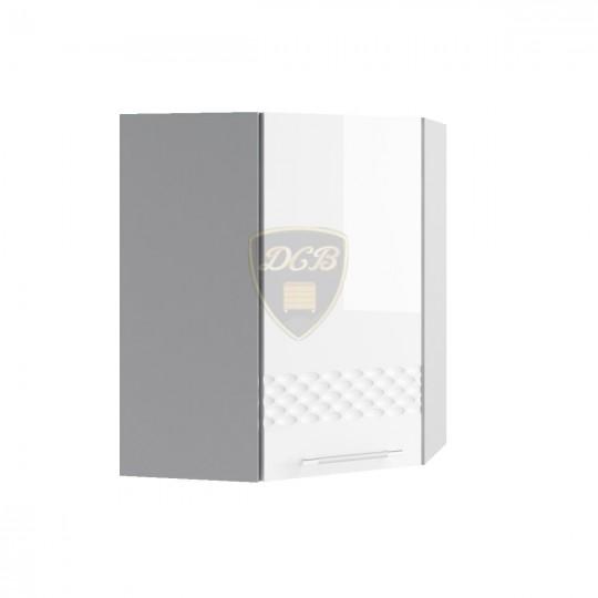 Капля шкаф навесной высокий угловой 600х600 | ВПУ600