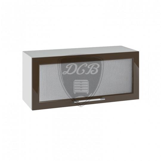 Капля шкаф навесной горизонтальный со стеклом на 800   ПГС800