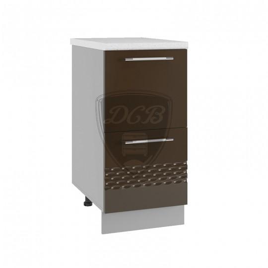 Капля шкаф нижний комод с 2 ящиками на 400   СК2400