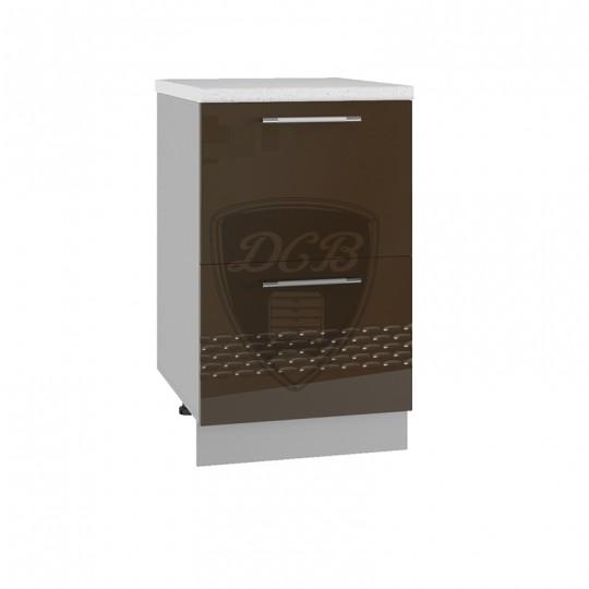 Капля шкаф нижний комод с 2 ящиками на 500   СК2500