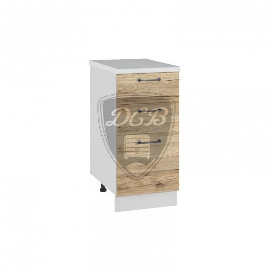Лофт шкаф нижний с ящиками на 400 | СЯ400
