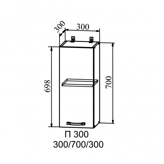 Капля шкаф навесной на 300 | П300