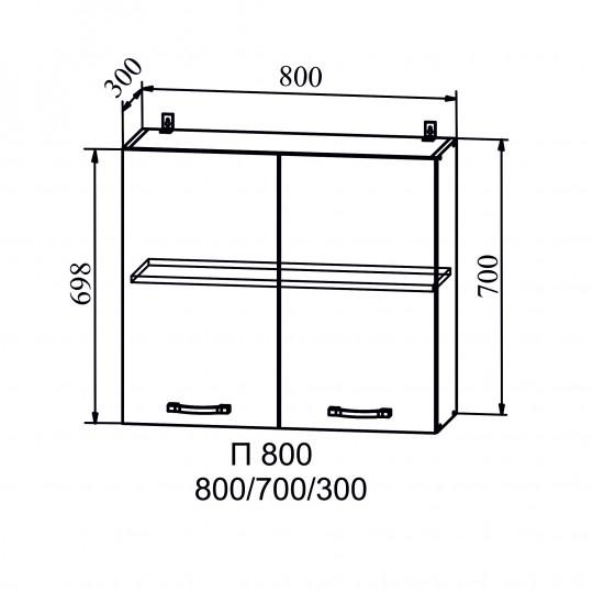 Олива шкаф навесной на 800   П800