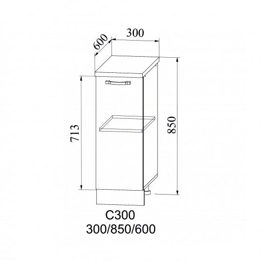 Лофт шкаф нижний на 300 | С 300