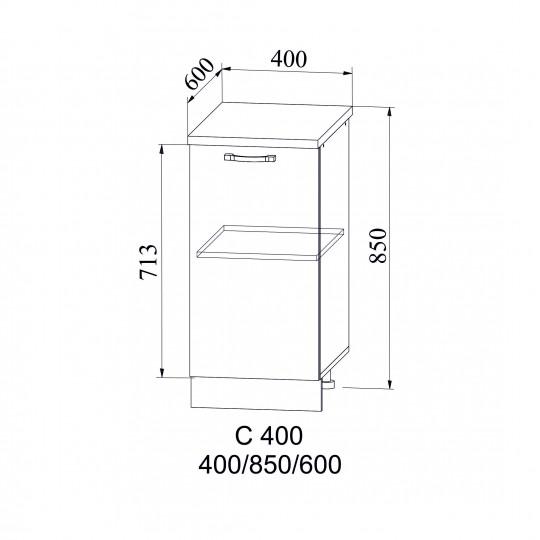 Лофт шкаф нижний на 400 | С 400