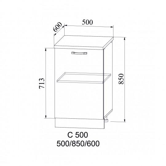 Лофт шкаф нижний на 500 | С 500