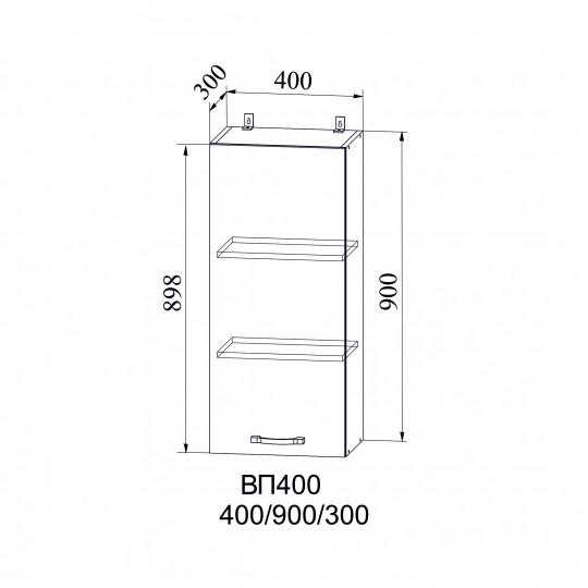 Капля шкаф навесной высокий на 400 | ВП400