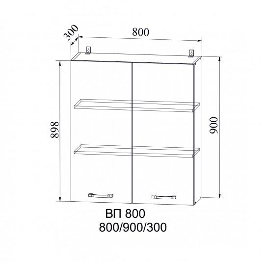 Капля шкаф навесной высокий на 800 | ВП800