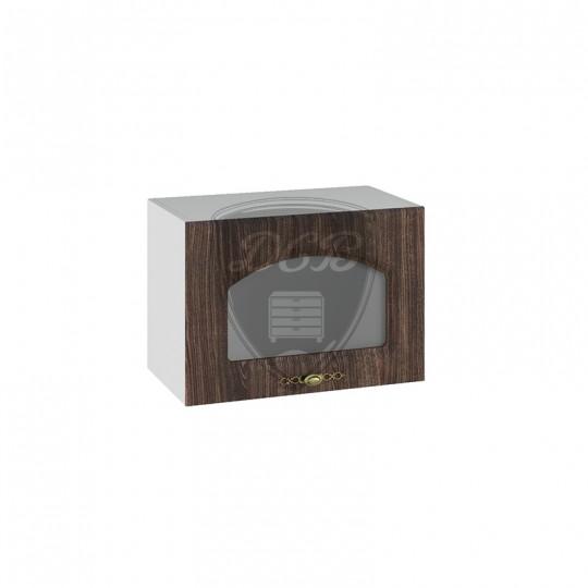 Монако шкаф навесной высокий горизонтальный со стеклом на 500   ВПГС500