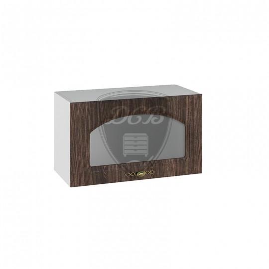 Монако шкаф навесной высокий горизонтальный со стеклом на 600   ВПГС600
