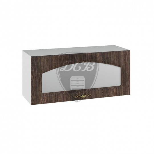 Монако шкаф навесной высокий горизонтальный со стеклом на 800   ВПГС800