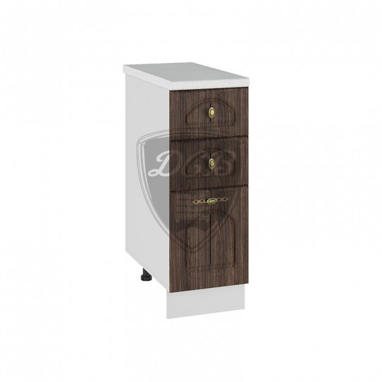 Монако шкаф нижний с ящиками на 300   СЯ300