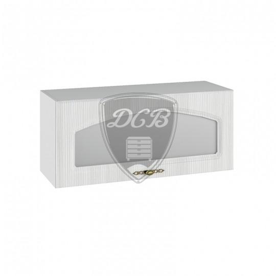 Монако шкаф навесной горизонтальный со стеклом на 800   ПГС800