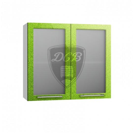 Олива шкаф навесной со стеклом на 800   ПС800