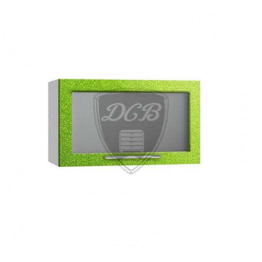 Олива шкаф навесной высокий горизонтальный со стеклом на 600   ВПГС600