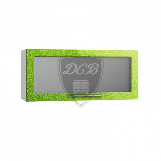 Олива шкаф навесной высокий горизонтальный со стеклом на 800   ВПГС800