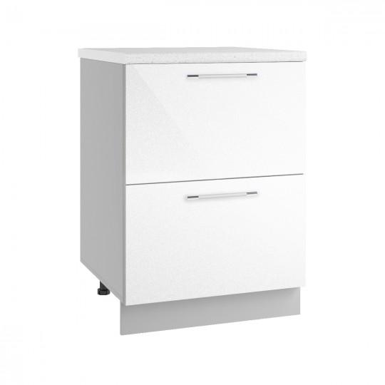 Олива шкаф нижний комод с 2 ящиками на 600   СК2600