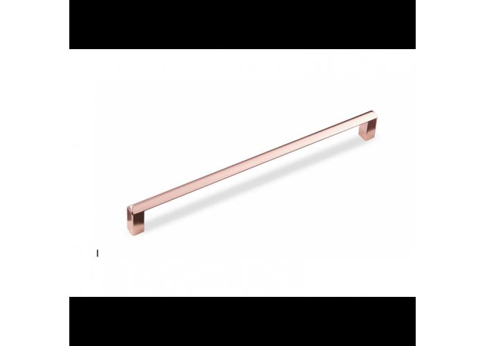 Ручка-скоба Розовая медь (Квадро) 128