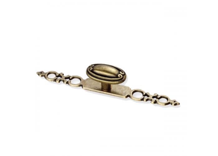 Ручка-кнопка + накладка старая бронза (Гранд/ Монако/Империя/Ницца)